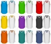 Basket-ball maillots, uniforme de basket-ball, Sport — Vecteur