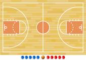 Basketball Court, Basketball Play, Sport — Stockvector