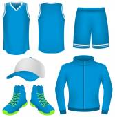 Basketbal truien, basketbal uniform, sportkleding — Stockvector