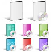 Software Disk, Video Disk, DVD, Cover Designs, CD — Stock Vector