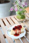 Cherry cheese cake  — Stock Photo