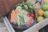 蔬菜与冰 — 图库照片