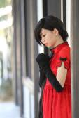 Mutlu Çin yeni yılı. güzel genç Asyalı kadın elbise tradit — Stok fotoğraf