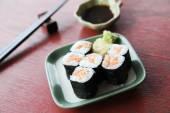 Salmon Maki sushi — Stock Photo