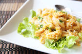 Fried Noodles with Chicken  — Stock Photo