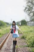 亚洲学校的女孩 — 图库照片