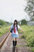 Asyalı liseli kız — Stok fotoğraf