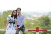 Asian pre wedding — Stock Photo