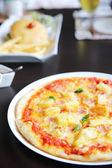 Baked pizza hawaii — Stock Photo