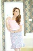 Asian girl on fashion dress — Stock Photo