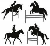 Equestrian sports set 2 — ストックベクタ