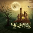 Happy Halloween party castles design background — Stock Vector #53601401