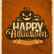 Happy halloween pumpkin message design — Stock Vector #53770223
