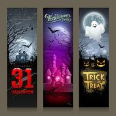 Happy Halloween collections banner vertical design — Stock Vector