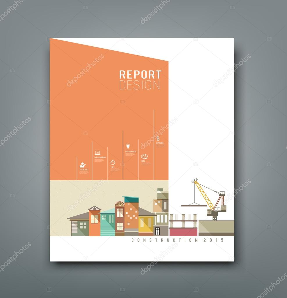 cover report building construction design stock vector cover report building construction design stock illustration