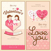 Happy Valentine's Day banners collections — Stock Vector