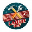 Labor day with work tools construction concept design — Stock Vector #77199393