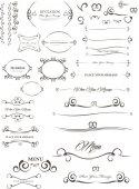 Calligrafic elements — Stock Vector