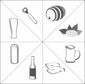 Beer icon set. — Stock Photo