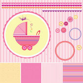 Set baby patterns. Vector illustration. — Stock Vector