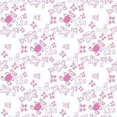 Baby seamless pattern Color pink. — Stock Vector