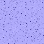 Seamless pattern with blue hearts. — Stock Vector