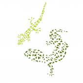 Vector Decorative Lizard. — Stock Vector