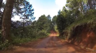 Driving on dirt road. HD — Stock Video