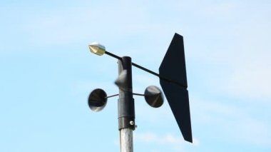Anemometer measuring. HD — Stock Video
