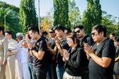 Sacrifice soul heroic people Bangrachan. — Stock Photo
