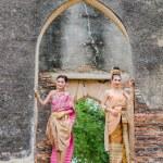 Thai woman dressing traditional. — Stock Photo #73620653
