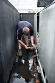 HVAC Technician Working — Stock Photo