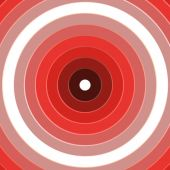 Red Rings Target Background — Stock Photo