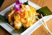 Tasty Tempura Thai Shrimp Plate — Stock Photo
