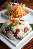 Thai Pork Ribs and Rice Dish — Stock Photo