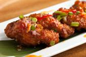 Tangy Thai Spicy Chicken Wings — Stock Photo