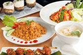 Variety of Thai Food Dishes — Stock Photo