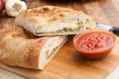 Stromboli Stuffed Bread — Stock Photo