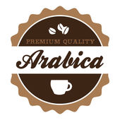 Vintage Arabica Coffee Label — Stock Vector