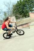 BMX Rider Having Fun — Stock Photo