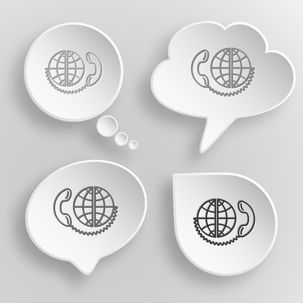 Comunicación global. — Vector de stock