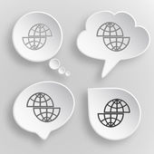 Shift globe — Stock Vector