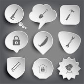 Tools icons — Stock Vector