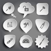 Verktyg ikoner — Stockvektor