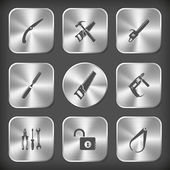 Industrial tools set. — Vetor de Stock