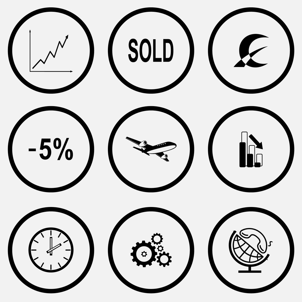 Business icons set. — Stock Vector