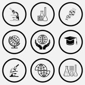 Science icons set. — Stock Vector