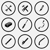 Industrial tools icons set — ストックベクタ