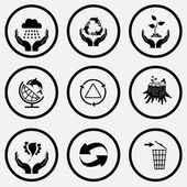 Ecology icons set. — Stock Vector