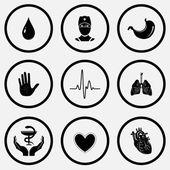 Medical icons set — Stockvektor